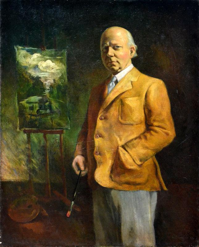 Wojciech Fangor, Portret Tadeusza Pruszkowskiego, Zbiory MASP